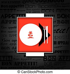 Template menu for restaurant, cafe, bar