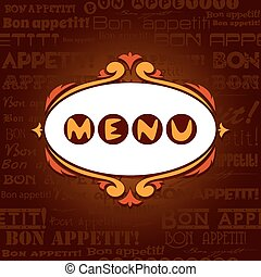 Template menu for restaurant, cafe, bare.