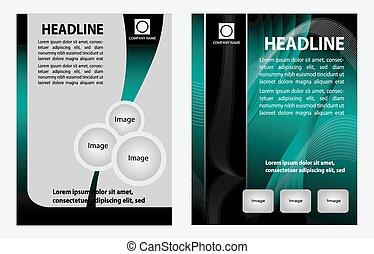 Template of brochure design set