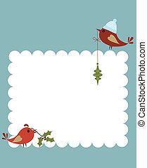 template of christmas card