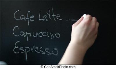 Template of Coffee-Shop Menu on the Chalkboard