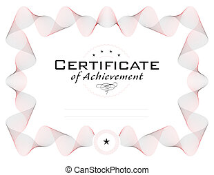 template of diploma or certificate with guilloche border, ...