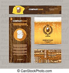 Template of identity for beer restaurant, cafe, bar.
