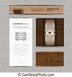 Template of identity for coffee house, restaurant, cafe, bar.