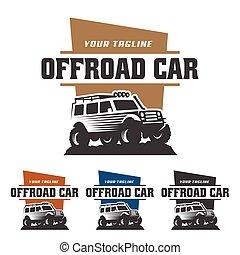 off road car logo, offroad logo, SUV car logo template, off-road