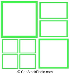 Template of squares
