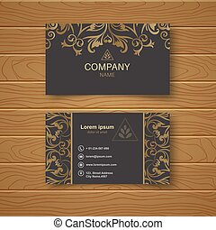 Template of the empty business card