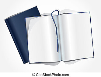 Template of the magazine. - Template of the open magazine.