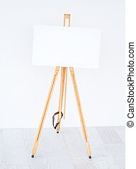 Template of white canvas
