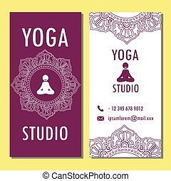 Template of yoga poster, flyer, banner