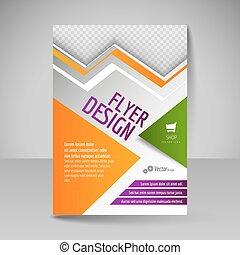 template., ontwerp, a4, flyer, dekking, editable, poster, ...