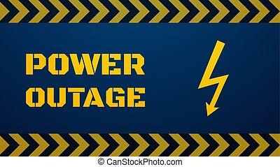 template., outage, ilustración, concepto, potencia, apagón