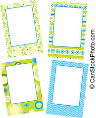 Template photo floral frames, vector