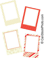 Template photo frames, vector