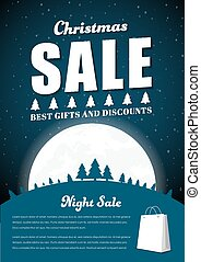 Template Poster for Christmas sales.