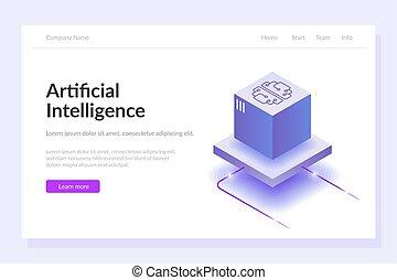 template., power., grande, technologies., intelligenza, processing., calcolare, processo, web, artificiale, moderno, sviluppi, dati