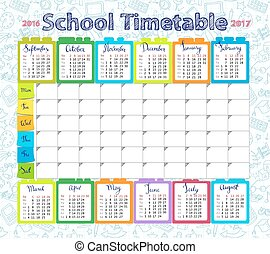 Template school timetable 2016-2017 - Template school...