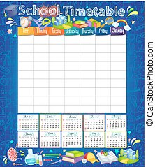 Template school timetable