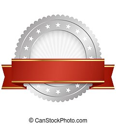 template seal with banner - template of round seal with red ...