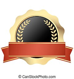 template seal with banner