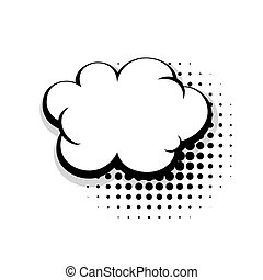 Template simple comic speech cloud bubble
