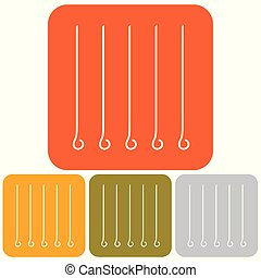 template - Skewers icon. Vector illustration