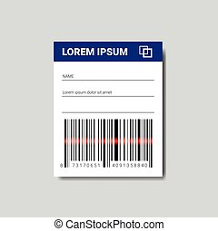 Template Sticker With Copy Space And Bar Code For Scanning Icon