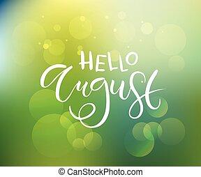 template., tarjeta, agosto, bandera, invitación, aviador, ...
