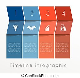Template Timeline Infographic design for four position -...