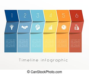 Template Timeline Infographic design for six position