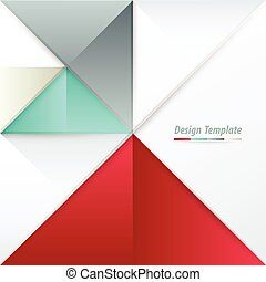 Template Triangle Design White, red, green, gray