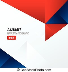 template triangle Red and Blue Color