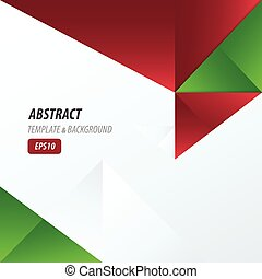 template triangle red and green color
