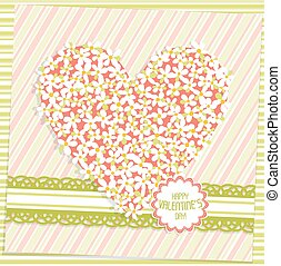 Template Valentine greeting card