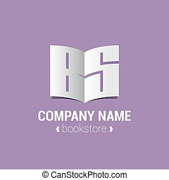Template vector logo for bookstore