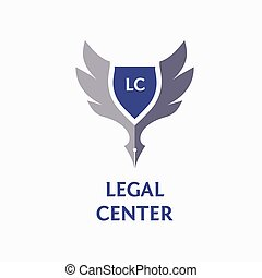 Template vector logo for legal, notary organization