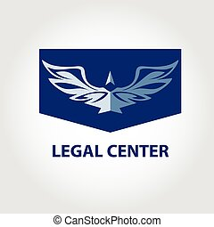 Template vector logo for legal, notary organization. Illustratio