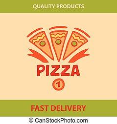 Template vector logo pizza, pizzeria.