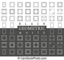 Template vector photo frames