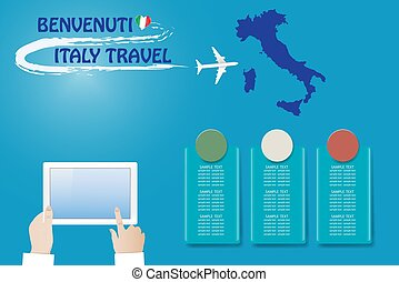 Template vector Travel to Italy