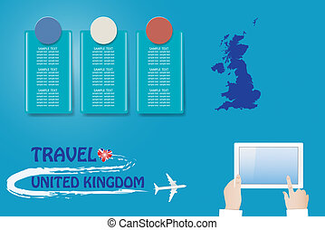 Template vector Travel to United Kingdom