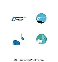 template., wäsche, logo, druck