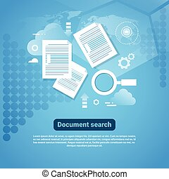 Template Web Banner With Copy Space Document Search Concept