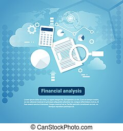 Template Web Banner With Copy Space Financial Analysis ...