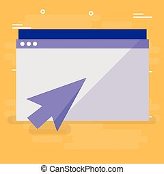 template webpage with arrow pointer