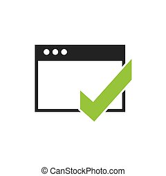 template windows with social media icon vector illustration...
