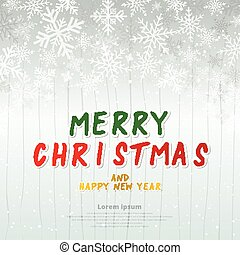 Template winter white background christmas made of snowflakes and snow with blank copy space for your text