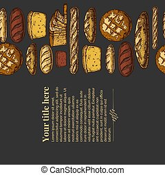 Template with Bakery products