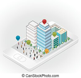 business people in the street
