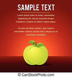 Template with Green Apple